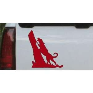 6in X 6.4in Red    Coon Hunting Dog Barking up Tree Hunting And