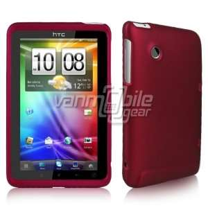 HTC EVO View 4G/Flyer   Hot Pink Hard Rubberized Plastic