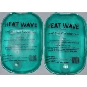 HEAT WAVE Instant Reusable Heat Pack   HAND WARMERS (2)  1 PAIR HEAT