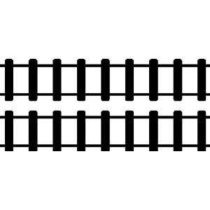 STRAIGHT TRAIN TRACKS.WALL STICKERS DECALS ART DECOR