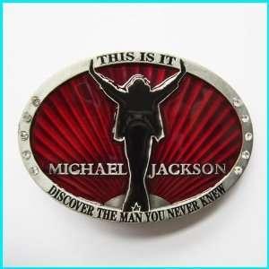 MICHAEL JACKSON THIS IS IT Belt Buckle MU 086RD