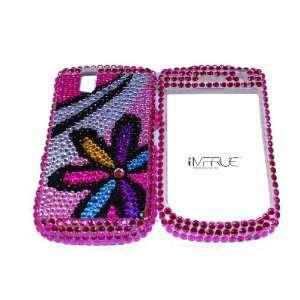 Blackberry Tour 9630 Pink Flower Bling Case #39