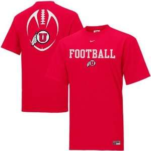 Nike Utah Utes Red Team Issue T shirt