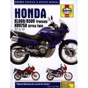 Honda XL600/650V Transalp & XRV750 Africa Twin 87 to 07