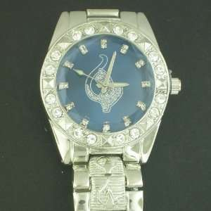 SILVER BLUE FACE PLAY BOY BUNY HIP HOP WATCH WATCHES: Everything Else