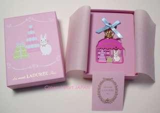 New LADUREE Keychain Window Lapin Rabbit Pink Key Ring in Gift Box