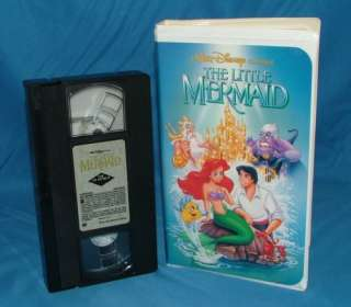 EXTREMELY RARE LITTLE MERMAID VHS 1990, BANNED ART WORK, SHOWING A