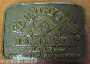 Metal Belt Buckle Advertising Country Time Lemonade