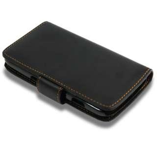 AIO Black Wallet Leather Case For Samsung Galaxy Nexus i9250 + Screen