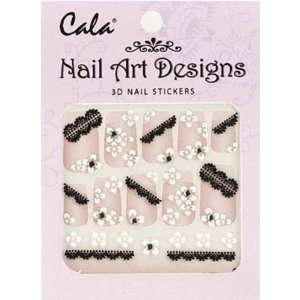 Cala Jeweled 3D Nail Art Stickers x2 Packs Flowers #86381+ Aviva Nail