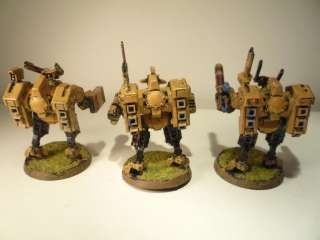 Warhammer 40K Army Tau Crisis Battlesuits Painted on PopScreen