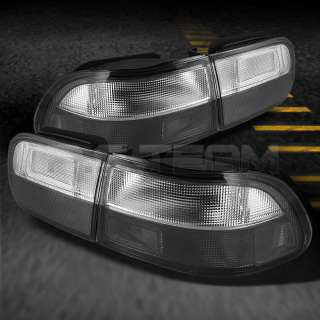 92 95 CIVIC 2/4DR JDM SMOKED CLEAR TAIL LIGHTS LAMPS