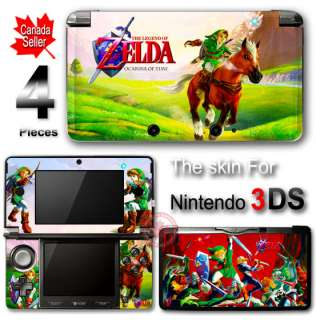 Zelda Ocarina of Time SKIN STICKER DECAL COVER for 3DS
