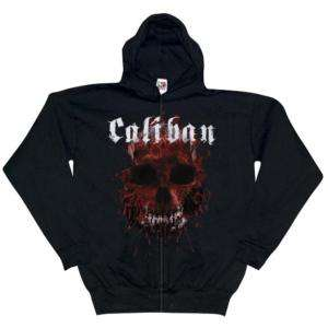 Caliban   Bloody Skull Zip Hoodie   X Large