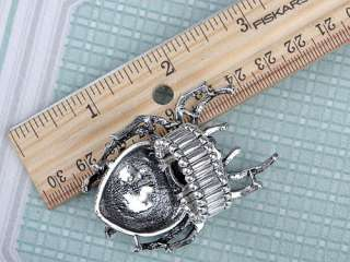 Stunning Large Silver Tone Clear Crystal Rhinestone Spider Insect Bug