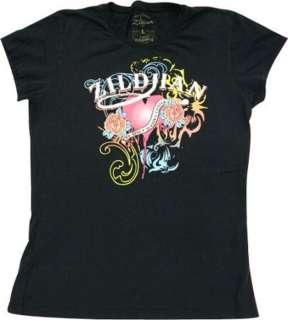 Zildjian Cymbals Womens Black Tattoo/Tribal Tee T Shirt   Szes M L XL
