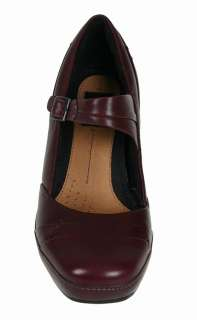 Clarks Womens Shoes Mika Jane Berry Leather 82797