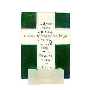 Pack of 4 Religious Prayer God Grant Me Serentity Glass