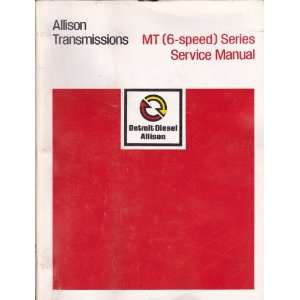 Allison Transmissions MT (6 Speed) Series Service Manual
