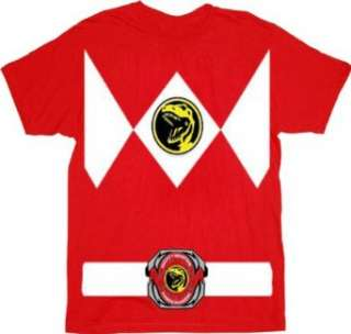 Power Rangers Red Ranger Costume Red T Shirt Tee Clothing