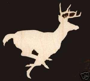 Running Deer Wild Animal Craft Wood Cutout #1292 4