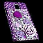 Purple Bling Crystal Diamond Rhinestone Hard Case Cover for LG Optimus