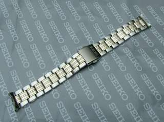 SEIKO 20mm STAINLESS STEEL + GOLD WATCH STRAP 35C4 Z.I