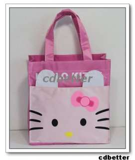 Women Girl Hello Kitty Pink SMALL HANDBAG TOTE BAG CUTE