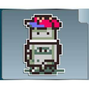 ROBOT NESS from Earthbound 8bit vinyl decal sticker: Everything Else