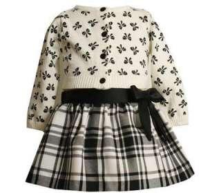 Bonnie Jean Baby Girls Holiday Skirt & Sweater Set 18M
