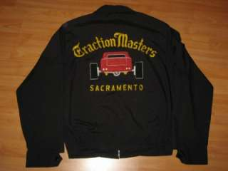 VINTAGE 1950S/1960S TRACTION MASTERS CAR CLUB HOT ROD JACKET   NR