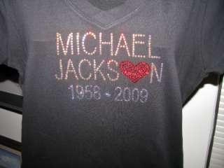 Swarovski Crystal Rhinestone Michael Jackson Shirt