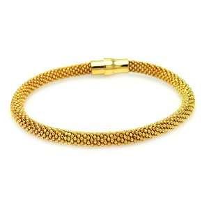 85MM Sterling Silver Italian Bracelets Gold Plated Beaded Magnet