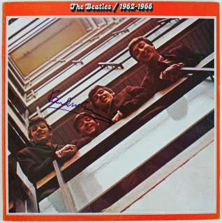 PAUL MCCARTNEY THE BEATLES 1962 1966 SIGNED ALBUM COVER W/ VINYL PSA