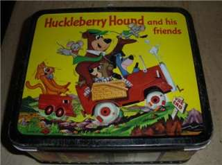 HOUND & QUICK DRAW MCGRAW METAL LUNCHBOX YOGI BEAR BOO BOO RARE