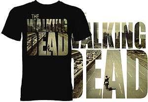 The Walking Dead Shirt   Poster T Shirt   Black