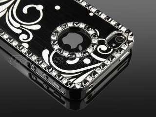 Aluminum Diamond Hard Case Cover F iPhone 4 4S + Screen Film