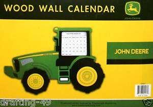 NEW John Deere Collection Perpetual Wood Wall Calendar