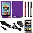 7in1 accessory kit for barnes noble nook tablet soft skin case car