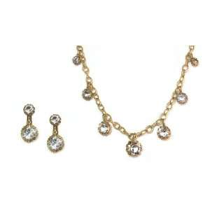 Catherine Popesco 14K Gold Plated Set of Necklace and CLIP