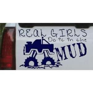 Real Girls Do It In The Mud Off Road Car Window Wall Laptop Decal