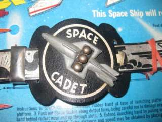 Tom Corbett Belt & Space Ship Buckle NEW With MINT BACKING Original