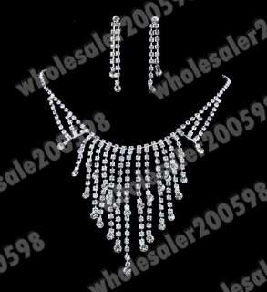 Necklace length20+19CM Earring Length22MM rhinestone&imitate pearl