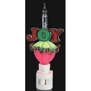 Club Pack of 12 Joy Christmas Bubble Light Night Lights 6.5