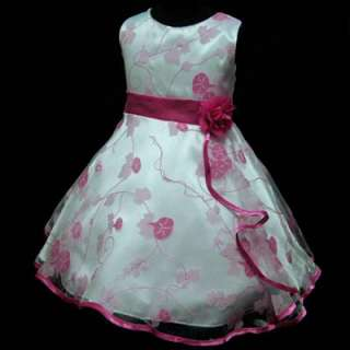 33113UWE16 PINK Bridesmaid Flower Girl Dress Sz 9 10T