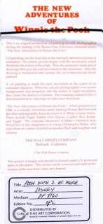 1989 WALT DISNEY ORIGINAL WINNIE THE POOH TIGGER PIGLET PRODUCTION CEL