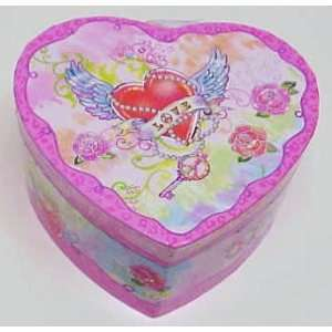 com Heart Shape Wind Up Musical Jewelry Box for Girls Home & Kitchen
