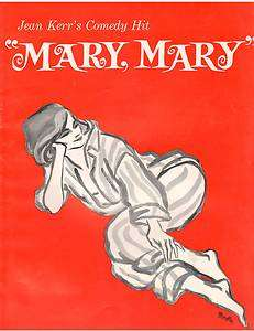 Kerr's Mary Mary Souvenir Theater Program Biff McGuire Martha Wright