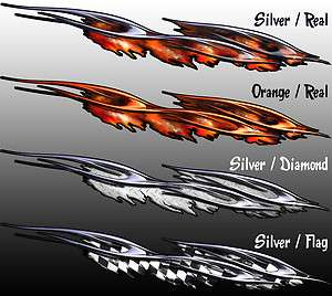 Ripped Flame Race Car Wrap Graphics Decal Vinyl 4 ft