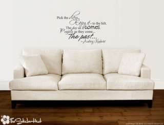Pick the Day Audrey Hepburn Quotes Wall Vinyl Stickers Decals 811